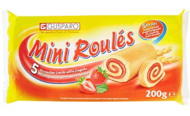 Рулети Gusparo Mini Roules Полуниця 200 g