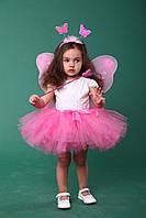 """Детский карнавальный костюм """"Бабочка розовая""""."""