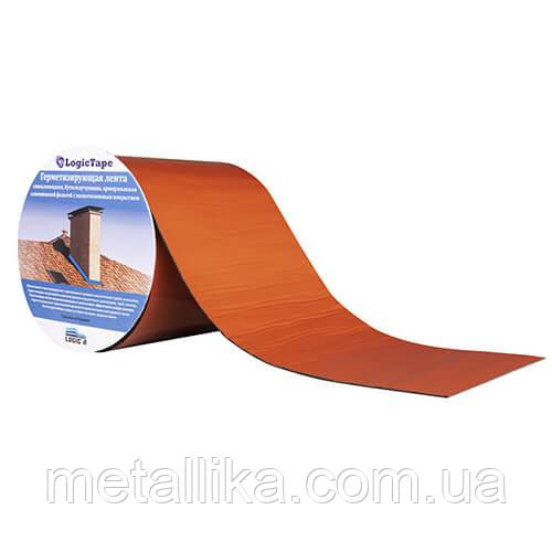 Бутилкаучуковая лента LogicTape ral 8004 (100 мм/3 м)