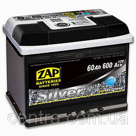 Автомобильный аккумулятор ZAP SILVER 6СТ-60 R+ 600A