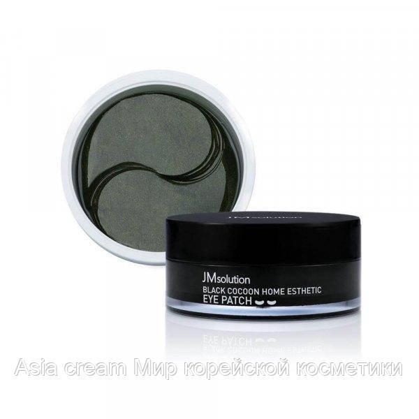 Гидрогелевые патчи с протеинами шёлка и углём JM solution Black Cocoon Home Esthetic Eye Patch