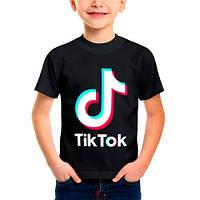 Детская футболка.  ТИК ТОК. Футболка для девочки и мальчика TIK TOK.