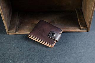 Классическое портмоне на 6 карт с застежкой Краст кофе, фото 2