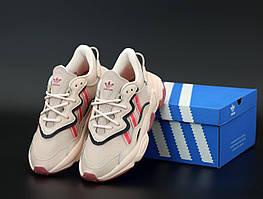 Женские розовые кроссовки Adidas Ozweego