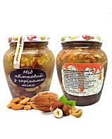 Мед з волоськими горіхами, кешю, фундуком / 900 гр