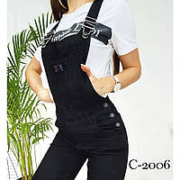Женский стильный джинсовый комбинезон, фото 1