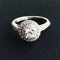Кольцо Beauty Bar из серебра с камнями Swarovski (размеры 16 и 16,5), фото 1
