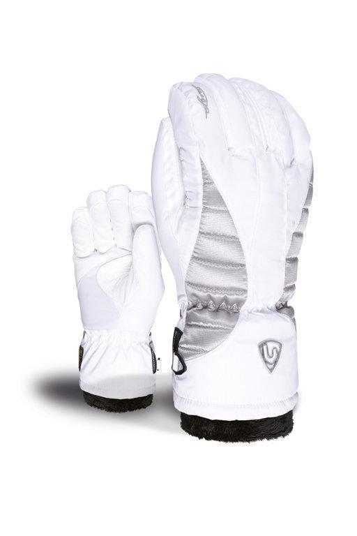 Гірськолижні рукавички Level Angel W White-Clay ,білі | розмір - 7 (S)