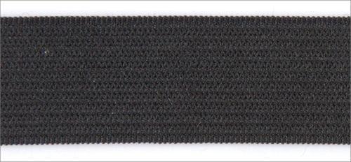 Резинка вязаная 4,2г 050мм цв черный (уп 25м) MH