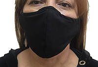 Маска многоразовая медицинская тканевая Маска черная на лицо,маска  для рта и носа.