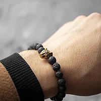Мужской каменный браслет   Leopard
