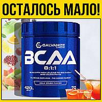Аминокислоты в порошке GC BCAA  420g   фруктовый пунш galvanize chrome 420 г грамм ~ 0.5 кг бцаа США 811
