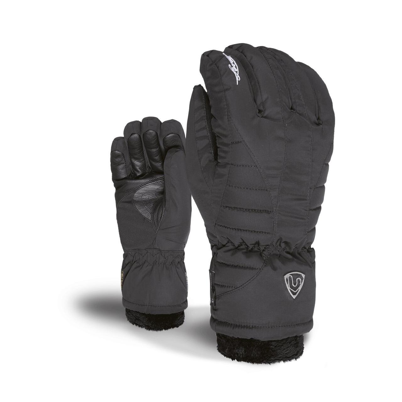 Гірськолижні рукавички Level Angel W Black, чорні | розмір - 7 (S)