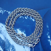 Серебряная цепочка, 500мм, 13 грамм, плетение Ручей, чернение, фото 3