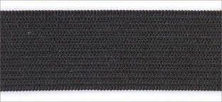 Резинка вязаная 4,2г 040мм цв черный (уп 25м) MH