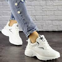 Женские белые кроссовки Cora