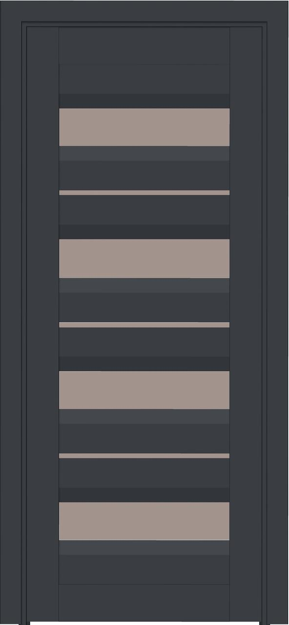 Межкомнатная дверь в дом Модель 109 Антрацит, остекленная