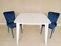 Стіл в сучасному стилі Барі -1 (B2436-1) Exm, колір стільниці і ніжок білий