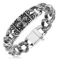 Сталевий браслет «Готичний», фото 1