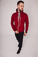 Спортивный костюм мужской весенний бордовый в стиле Tommy Hilfiger. Кофта + штаны. Спортивний костюм чоловічий