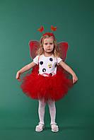 """Детский карнавальный костюм """"Бабочка красная""""."""