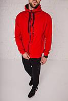 Спортивный костюм мужской весенний красный в стиле Tommy Hilfiger. Кофта + штаны. Спортивний костюм чоловічий