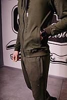 Спортивный костюм мужской весенний хаки в стиле Tommy Hilfiger. Кофта + штаны. Спортивний костюм чоловічий
