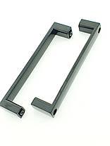 Ручка для дверей душевой кабины на два отверстия ( НД-016 ) Черная, фото 3