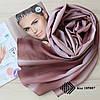 """Женский шифоновый легкий шарф """"Линда"""" (коричневый) 105007, фото 2"""