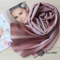 """Женский шифоновый легкий шарф """"Линда"""" (коричневый) 105007"""