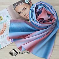 """Женский шифоновый легкий шарф """"Линда"""" (бирюзово-розовый) 105011"""