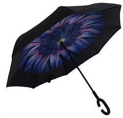 Зонт обратного сложения ветрозащитный Stenson MH-2713-1, цветок