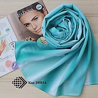 """Женский шифоновый легкий шарф """"Линда"""" (бирюзовый) 105014"""