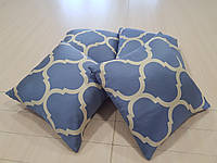 Комплект подушек Голубые с орнаментом, 4шт