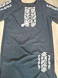 Женское платье с вышивкой темно-синего цвета - размер 60, фото 5