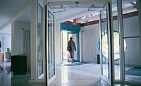 Автоматические стеклянные распашные двери из закаленного стекла
