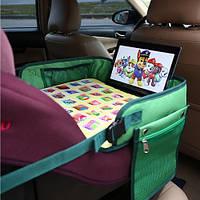 """Детский столик """"Азбука"""" для автокресла и коляски Needful Зеленый (DS1Agreen1)"""