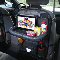 Органайзер со столиком на спинку сиденья в автомобиль Needful Темно-серый (OA1grey11)