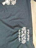 Женское платье с вышивкой темно-синего цвета - размер 60, фото 6