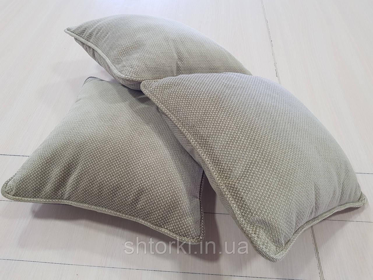 Комплект подушек беж с рубчиком 3шт