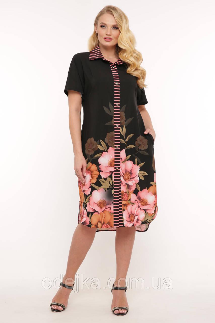 Сукня-сорочка жіноча Саті квіти