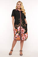 Платье-рубашка женская Сати цветы