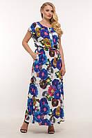 Длинное женское платье Влада цветы