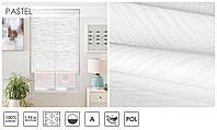 Рулонные шторы тканевые ролеты PASTEL бело-молочный