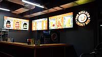 Круглый лайт бокс, световой короб для внутренней рекламы
