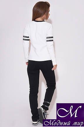 Женский спортивный костюм черно-белый (р. 42, 44, 46) арт. 31-610, фото 2