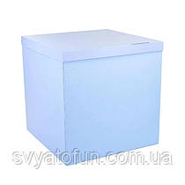 Коробка-сюрприз для воздушных шаров голубая без надписей