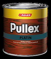 Тонкослойная лазурь для защиты древесины на основе растворителя с металлическим эффектом Pullex Platin