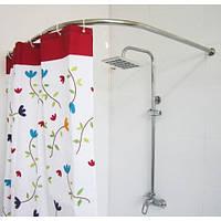 Карниз для ванной Комфорт угловой 90×110нерж