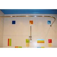 Карниз для ванной Комфорт угловой 120×70нерж